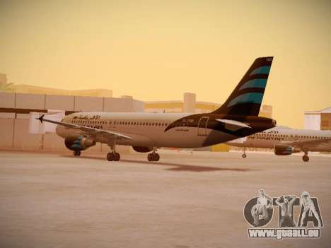 Airbus A320-214 Afriqiyah Airways pour GTA San Andreas vue de droite
