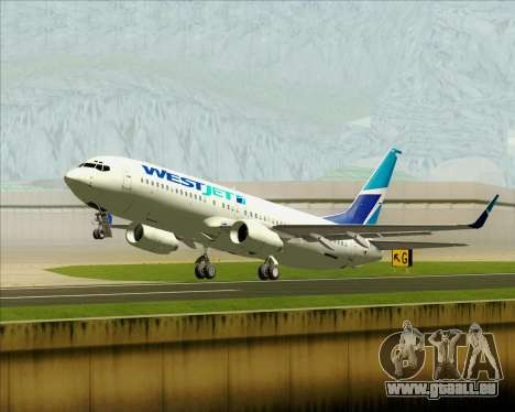 Boeing 737-800 WestJet Airlines für GTA San Andreas