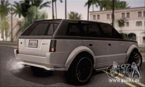 Vapid Huntley pour GTA San Andreas laissé vue