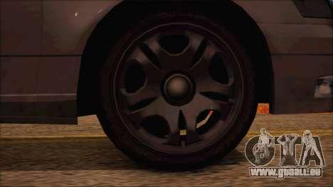 GTA 5 Intruder für GTA San Andreas zurück linke Ansicht