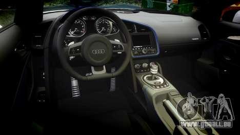 Audi R8 LMX 2015 [EPM] Carbon Series pour GTA 4 est une vue de l'intérieur