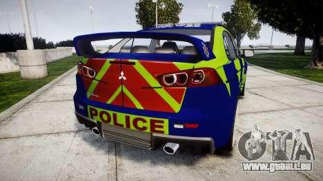 Mitsubishi Lancer Evolution X Police [ELS] pour GTA 4 Vue arrière de la gauche