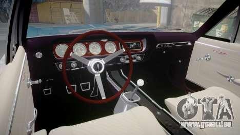 Pontiac GTO 1965 Sharpie pour GTA 4 Vue arrière