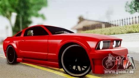 Ford Mustang GT 2012 pour GTA San Andreas sur la vue arrière gauche