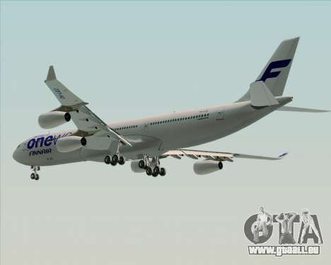 Airbus A340-300 Finnair (Oneworld Livery) pour GTA San Andreas roue