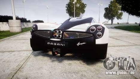 Pagani Huayra 2013 für GTA 4 hinten links Ansicht