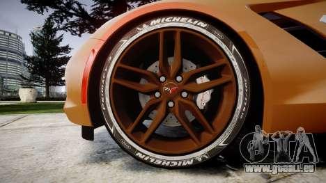 Chevrolet Corvette C7 Stingray 2014 v2.0 TireMi4 pour GTA 4 Vue arrière
