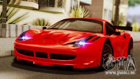 Ferrari 62 F458 2011 für GTA San Andreas obere Ansicht