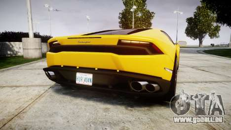 Lamborghini Huracan LP610-4 für GTA 4 hinten links Ansicht