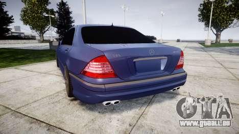 Mercedes-Benz W220 S65 AMG pour GTA 4 Vue arrière de la gauche