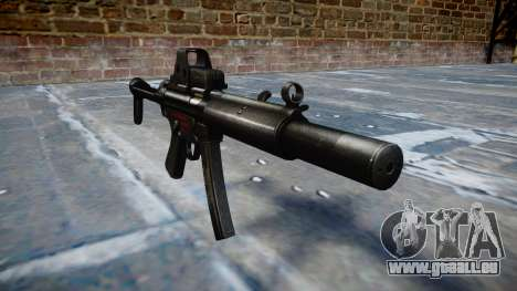 Pistolet MP5SD EOTHS FS b cible pour GTA 4