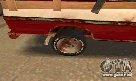 Ford PickUp Rusted pour GTA San Andreas vue arrière
