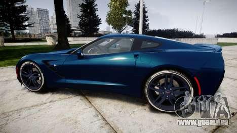 Chevrolet Corvette C7 Stingray 2014 v2.0 TirePi1 pour GTA 4 est une gauche