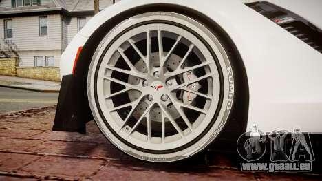 Chevrolet Corvette Z06 2015 TireKHU für GTA 4 Rückansicht