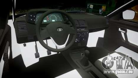 ВАЗ-2110 Bogdan rims2 pour GTA 4 Vue arrière