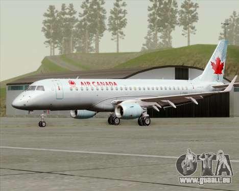 Embraer E-190 Air Canada pour GTA San Andreas laissé vue