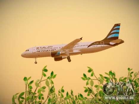 Airbus A320-214 Afriqiyah Airways für GTA San Andreas Unteransicht