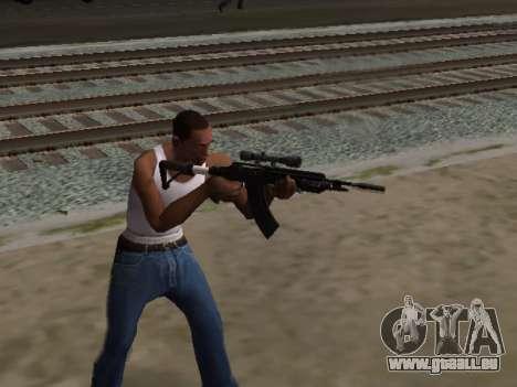 Heavy Sniper Rifle from GTA V pour GTA San Andreas troisième écran