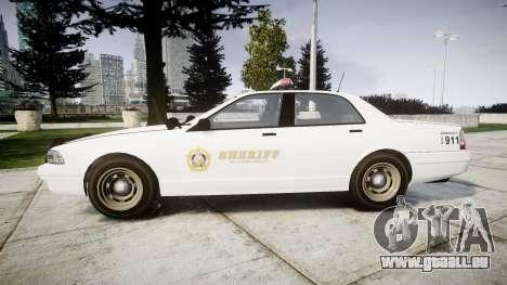 GTA V Vapid Police Cruiser Rotor [ELS] für GTA 4 linke Ansicht
