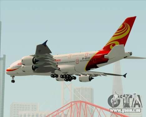 Airbus A380-800 Hainan Airlines für GTA San Andreas obere Ansicht