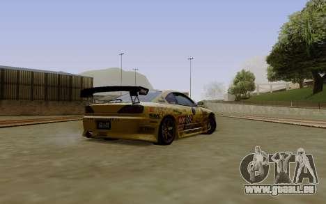 Nissan Silvia S15 NGK Motorsport pour GTA San Andreas laissé vue