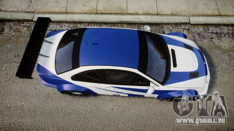 BMW M3 E46 GTR Most Wanted plate NFS ND 4 SPD für GTA 4 rechte Ansicht