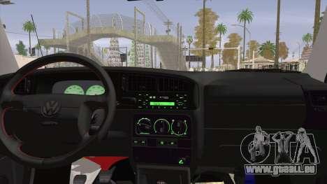 Volkswagen Golf Mk3 Harlequin Design pour GTA San Andreas sur la vue arrière gauche