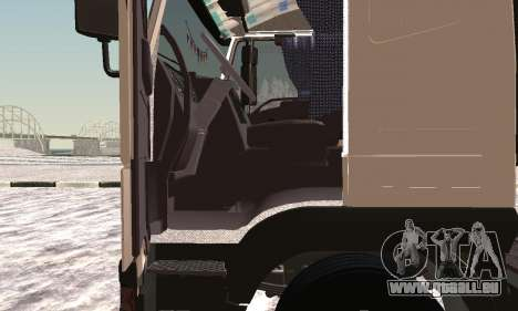Iveco EuroTech Brennbar für GTA San Andreas Rückansicht