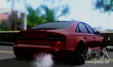 Audi S8 pour GTA San Andreas laissé vue