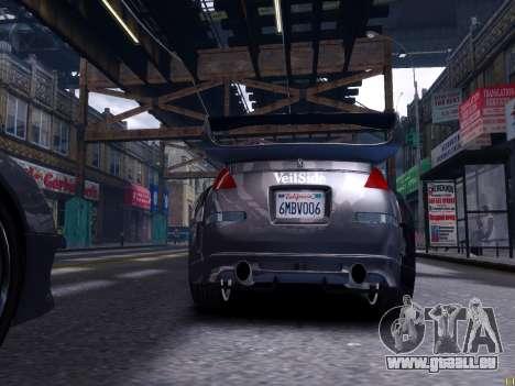 Nissan 350Z Tokyo Drift pour GTA 4 Vue arrière de la gauche