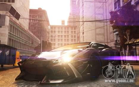 Lamborghini Aventador TZR R-Tech pour GTA 4 Vue arrière de la gauche
