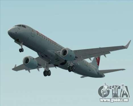 Embraer E-190 Air Canada für GTA San Andreas Unteransicht