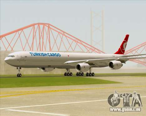 Airbus A340-600 Turkish Cargo für GTA San Andreas linke Ansicht