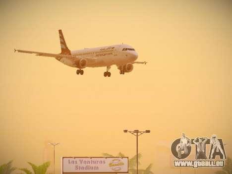 Airbus A320-214 Afriqiyah Airways für GTA San Andreas obere Ansicht
