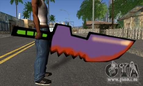 Dessin animé épée pour GTA San Andreas troisième écran