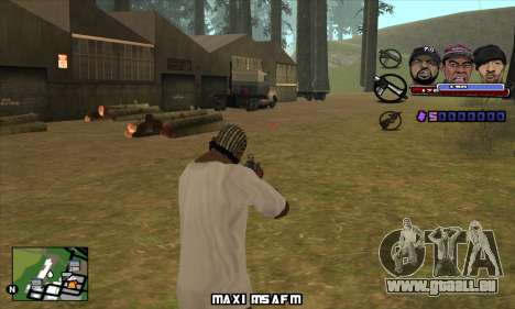 C-HUD Ice Rad Tyga pour GTA San Andreas troisième écran