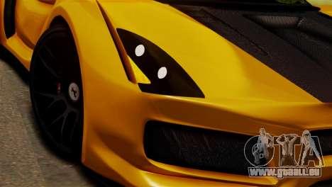 Ferrari Velocita 2013 SA Plate pour GTA San Andreas sur la vue arrière gauche