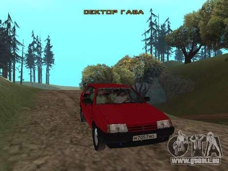 Le groupe Radio de Gaza pour GTA San Andreas troisième écran