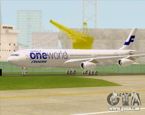 Airbus A340-300 Finnair (Oneworld Livery) pour GTA San Andreas laissé vue