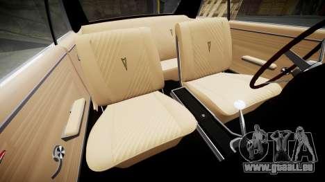 Pontiac GTO 1965 Sharpie pour GTA 4 est une vue de l'intérieur