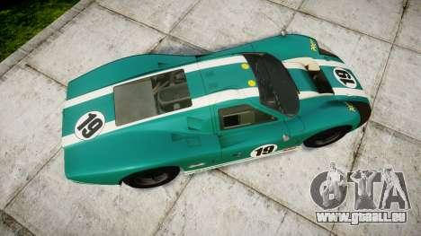 Ford GT40 Mark IV 1967 PJ Schila Racing 19 pour GTA 4 est un droit