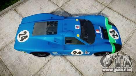 Ford GT40 Mark IV 1967 PJ Equipe Bouchard 24 für GTA 4 rechte Ansicht