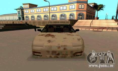 Nissan 240SX Rusted pour GTA San Andreas vue arrière