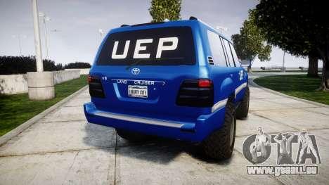 Toyota Land Cruiser 100 UEP blue [ELS] für GTA 4 hinten links Ansicht