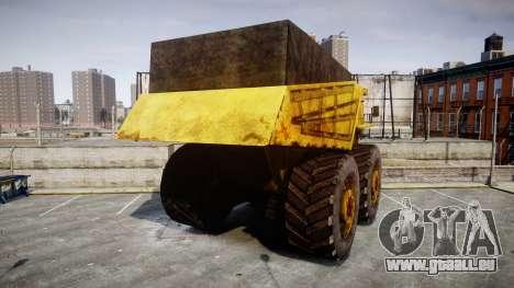 Mining Truck pour GTA 4 Vue arrière de la gauche
