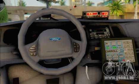 Ford Crown Victoria 1999 Walking Dead pour GTA San Andreas sur la vue arrière gauche