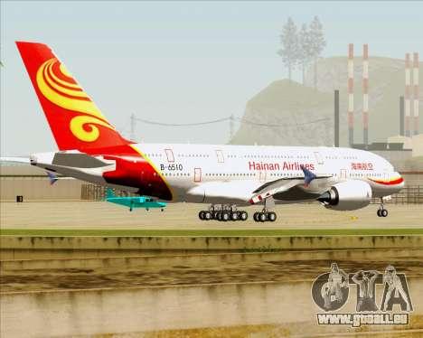 Airbus A380-800 Hainan Airlines für GTA San Andreas Unteransicht