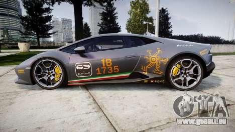 Lamborghini Huracan LP 610-4 2015 Blancpain für GTA 4 linke Ansicht