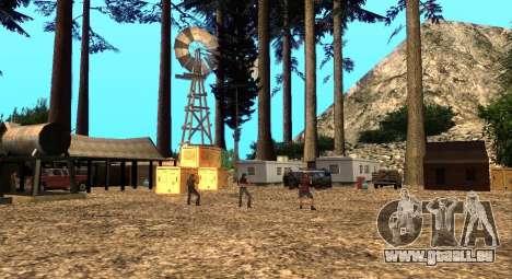 L'Altruiste camp sur le mont Chiliade pour GTA San Andreas deuxième écran