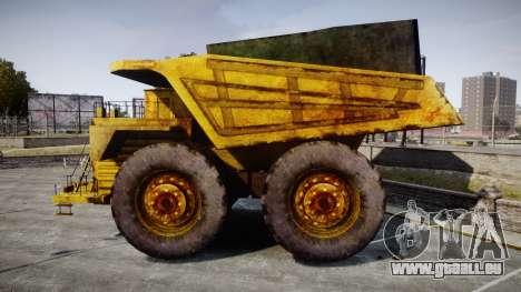 Mining Truck für GTA 4 linke Ansicht